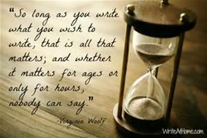 So long as you write...